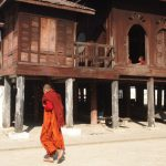 The quietness of the Shwe Yaunghwe Kyaung at noon