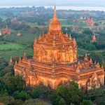 The temple in Bagan
