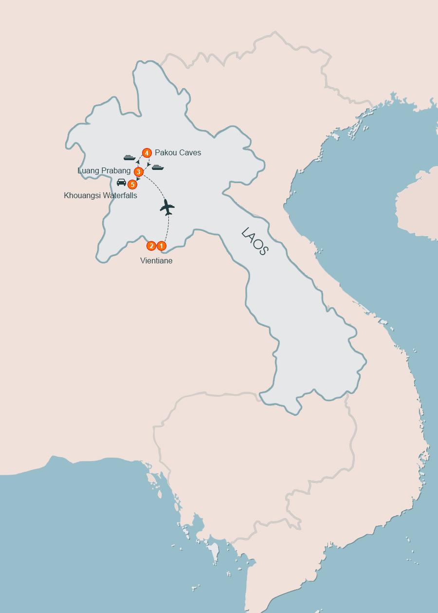 Vientiane Tours to Luang Prabang, Vientiane to Luang Brang