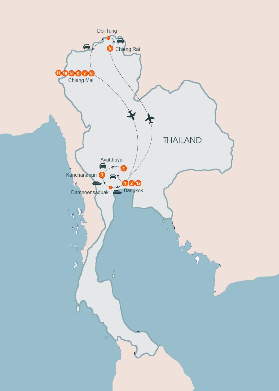 Highlights of Thailand Tour 10 Days