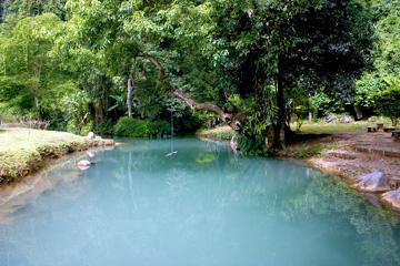The Blue Lagoon and Tham Phu Kham cave