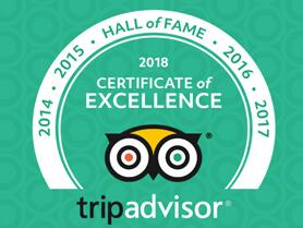 TripAdvisor Excellent Certificate