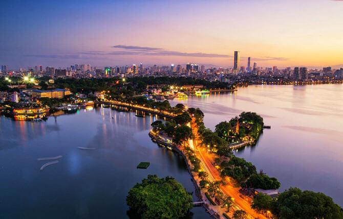 Charming Hanoi at night