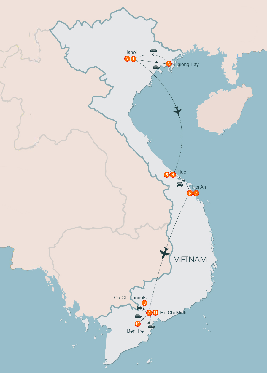 Taste of Vietnam Tour 11 Days. 11 Days Vietnam Tours