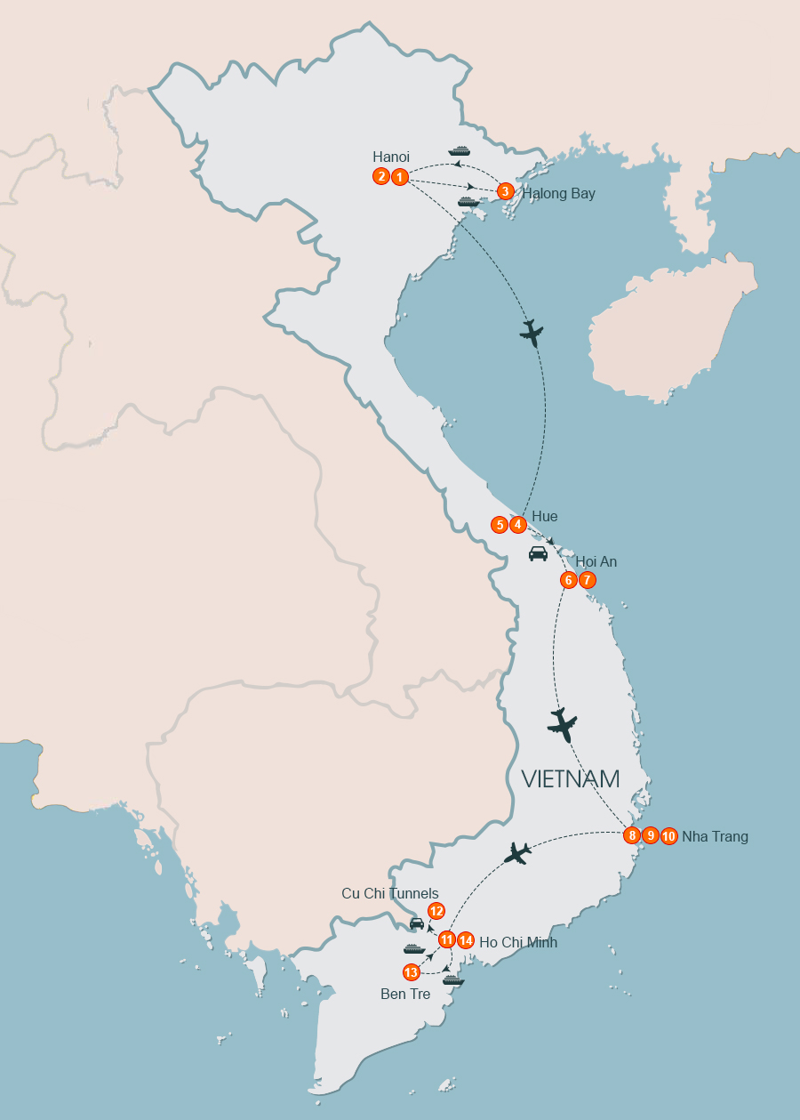 Ventures Through Vietnam 14 Days Tours, Tour Vietnam 14 Days