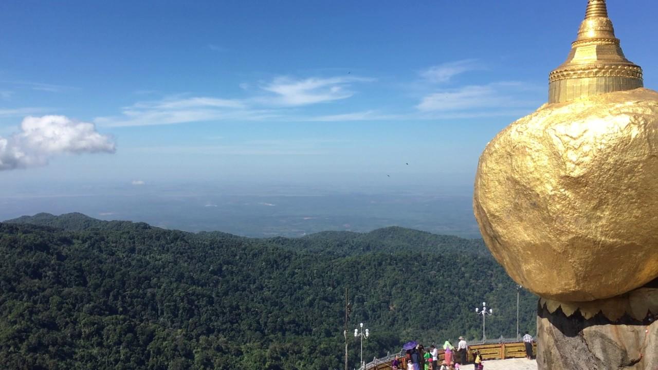 The beautiful sight seeing of Kyaiktiyo Mountain