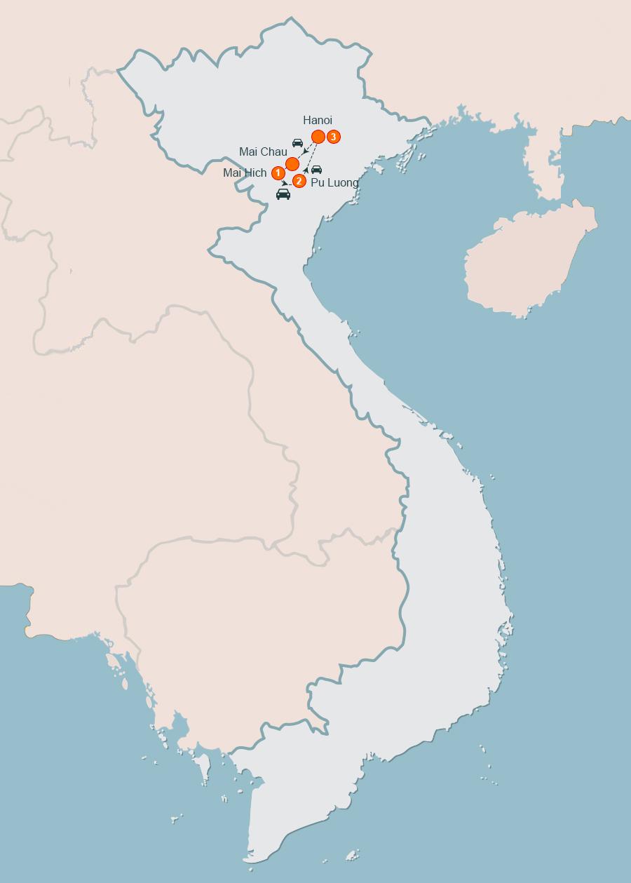 Mai Chau Pu Luong Tours, Trekking Mai Chau Pu Luong Tours