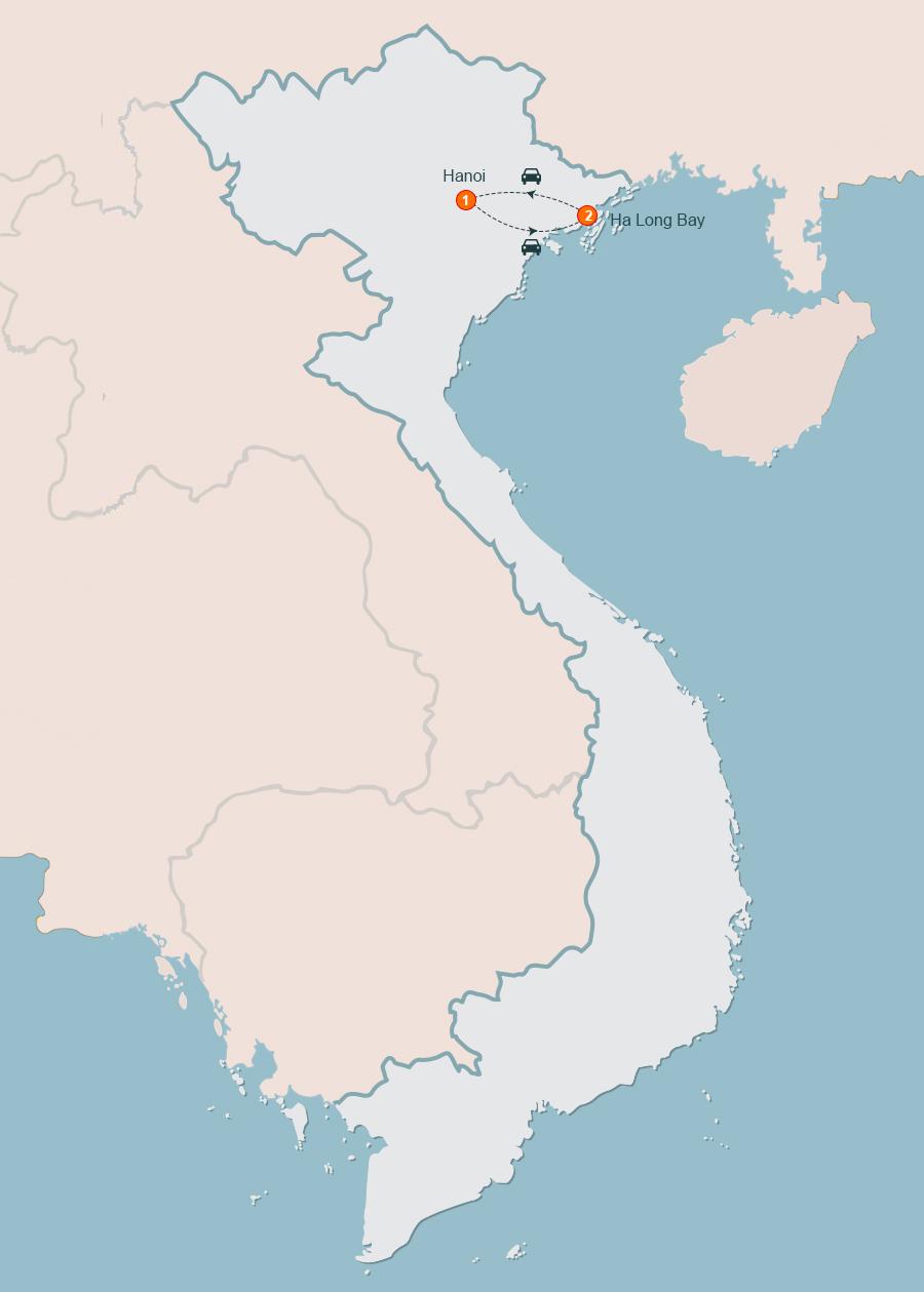 Hanoi Halong Bay Tours, Day Tour from Hanoi to Halong Bay.