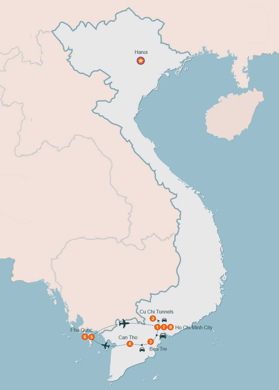Mekong Delta Tours Vietnam from Ho Chi Minh to Paradise of Phu Quoc
