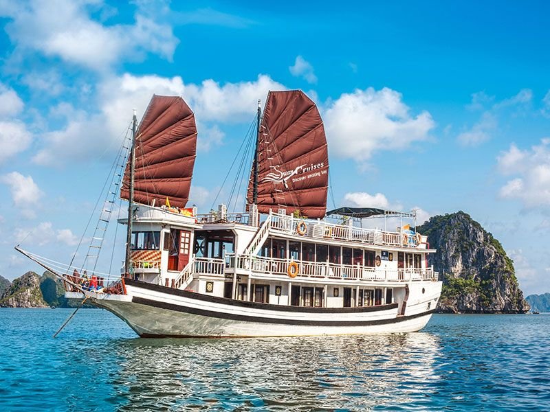 Swan Cruise Halong 2 -3 Days from Hanoi, Free Airport Transfer, Swan Halong