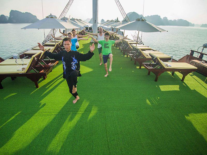 Dragon Legend Cruise Halong, Free Aiport Transfer, Dragon Legend Halong