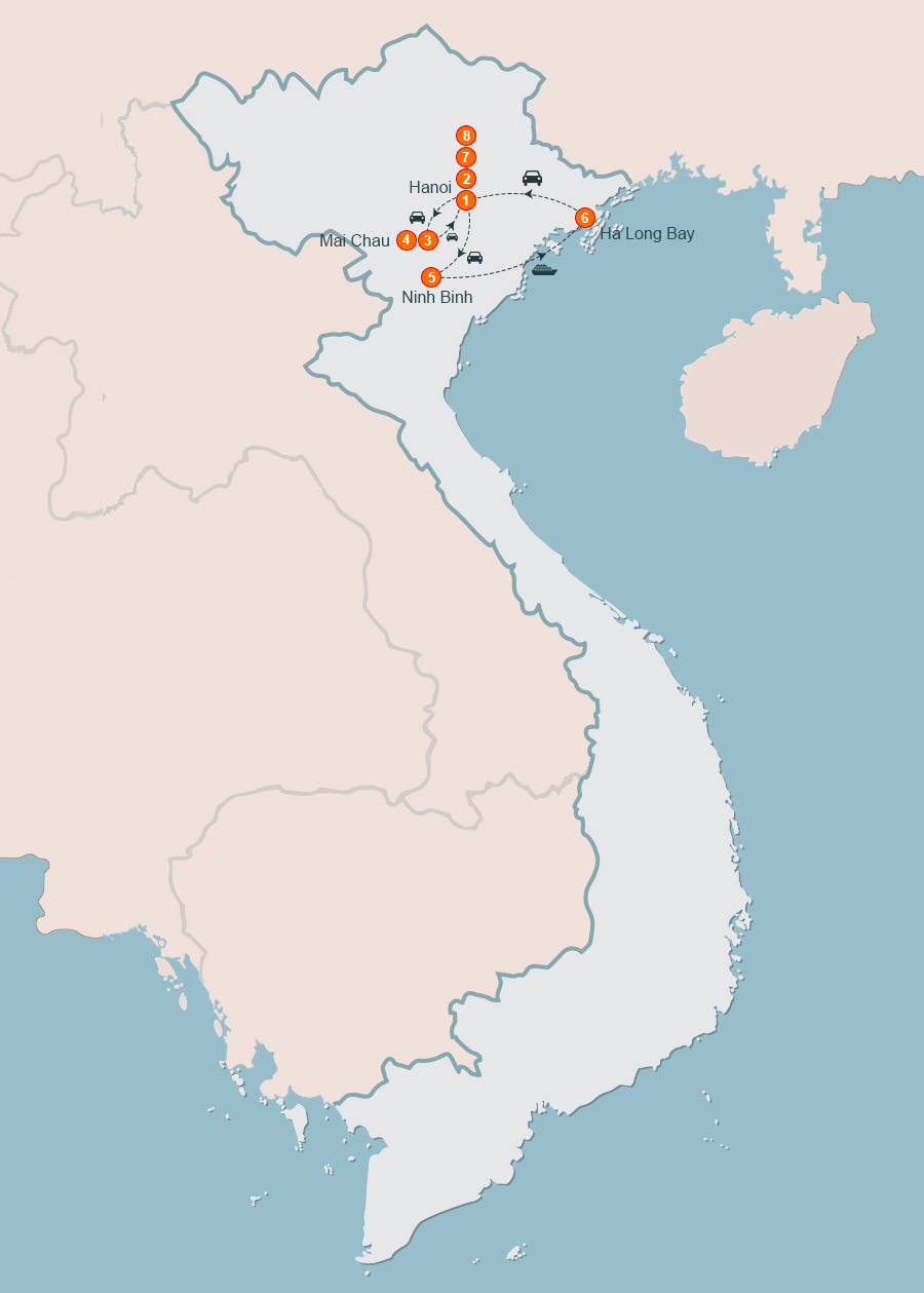 Hanoi Tour 8 Days, 8 Day Tour of Hanoi, Hanoi Itinerary 8 Days Tour