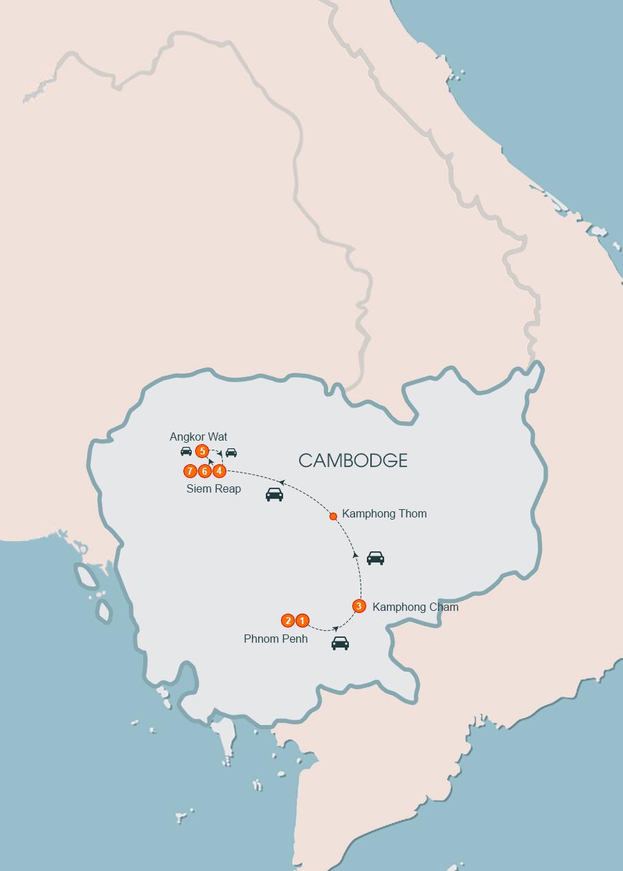 Cambodia Discovery 7 Days, Cambodia Tour 7 Days
