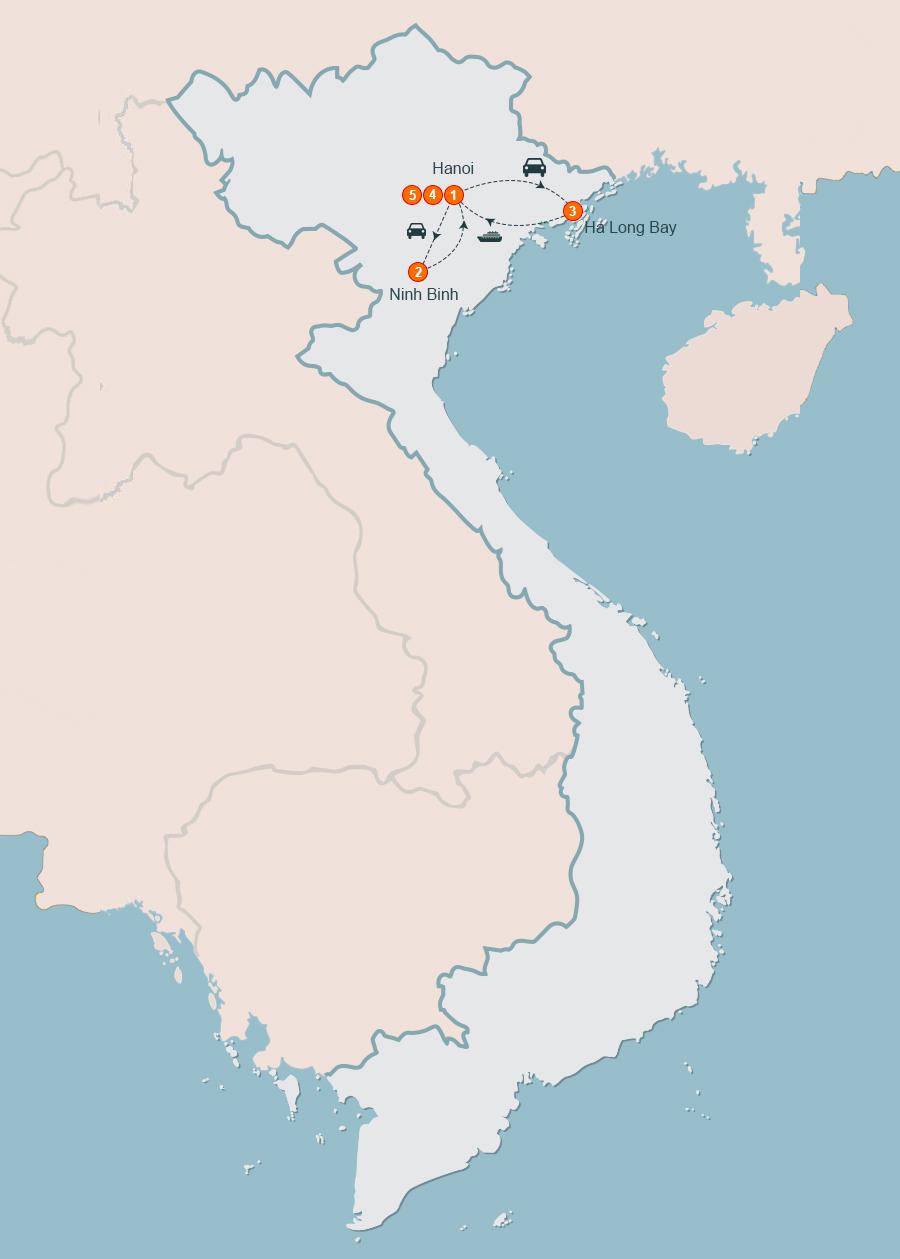 Hanoi Ninh Binh Halong Tour 5 Days, Hanoi Tour 5 Days, 5 Day Hanoi Tour