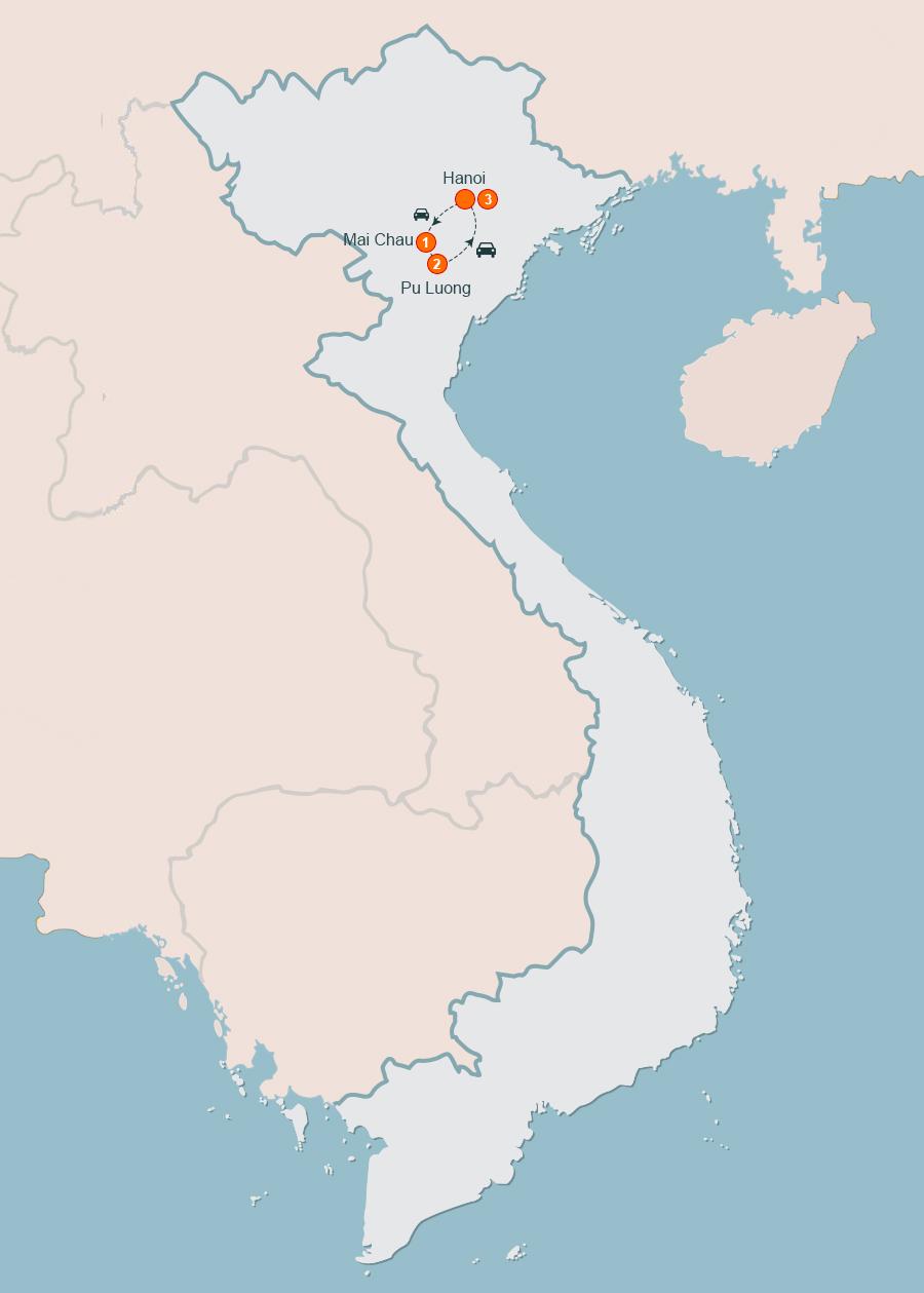 Mai Chau – Pu Luong Trekking Tours 3 Days / 2 Nights