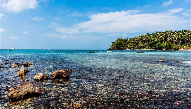 Summer sea paradise in the Nam Du archipelago
